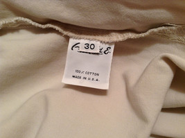 Natural White 100 Percent Cotton Size 30 Capri Pants For All Curious Americans image 10