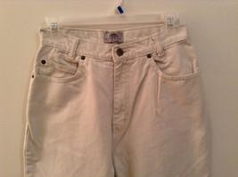 Natural White 100 Percent Cotton FRESNO Jeans Size 8 Average High Waist image 2