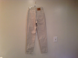 Natural White 100 Percent Cotton FRESNO Jeans Size 8 Average High Waist image 4