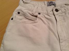 Natural White 100 Percent Cotton FRESNO Jeans Size 8 Average High Waist image 8