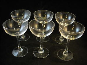 Set of 6 stemware glasses champagne or punch