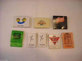 Set of 8 Matchbooks and Boxes with Southwest, Cuban and Latino food theme