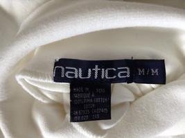 Nautica Medium White Long Sleeve Turtleneck Shirt Measurements Below image 8