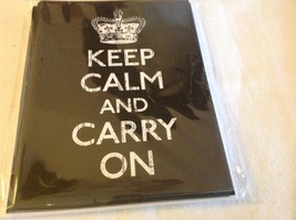 Set of 8 New in package note cards black and white Keep Calm and Carry On