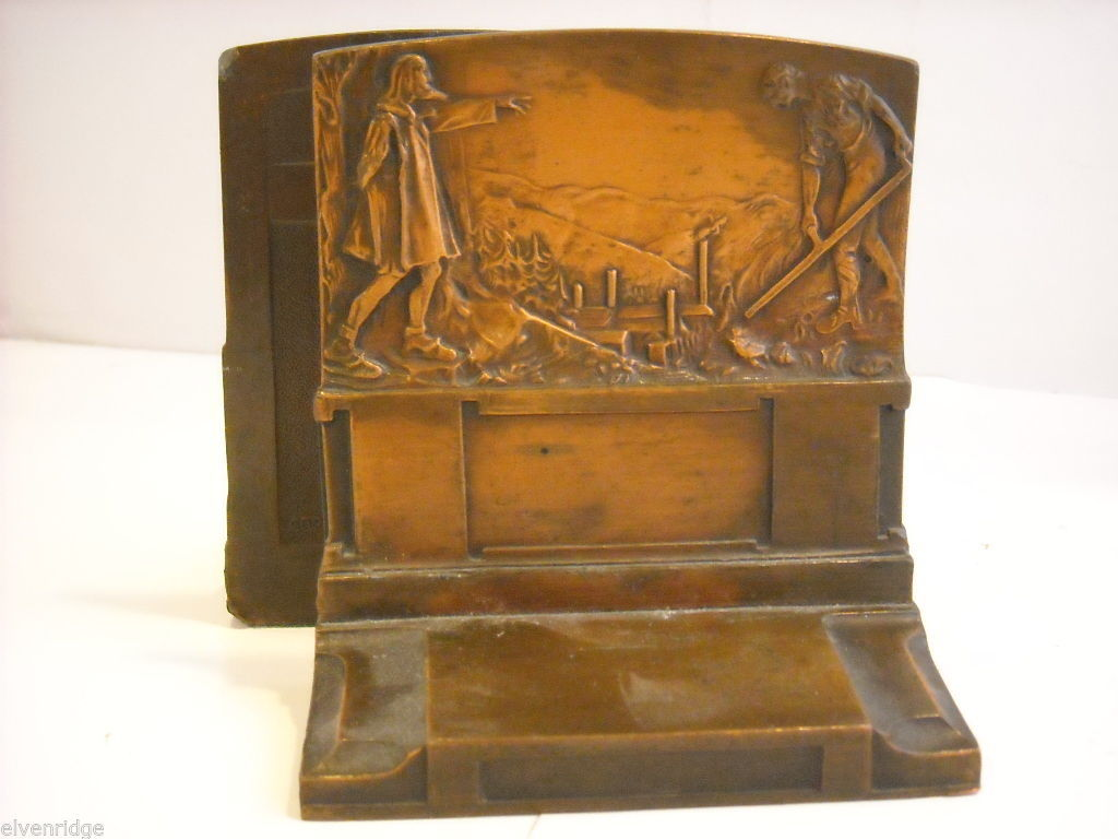 Set of Pompeian Bronze Co. Book Ends