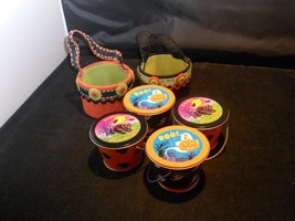 Set of Tin and Felt Halloween Decorative Pails Russ Berne and Co.