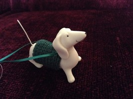 Porcelain Dachshund Figurine Cloth Shirt Wire Tail Different Colors Available image 6