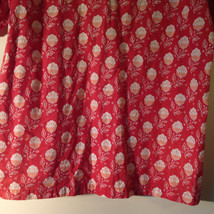 Popiler Red with Sea Shells Flowers Short Sleeve Button Down Collared Shirt image 6