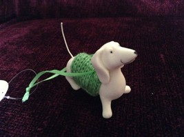 Porcelain Dachshund Figurine Cloth Shirt Wire Tail Different Colors Available image 8
