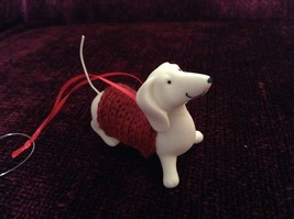 Porcelain Dachshund Figurine Cloth Shirt Wire Tail Different Colors Available image 7