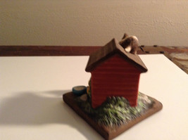 Porcelain Kittens Playing on Doghouse Figurine Display Piece image 3