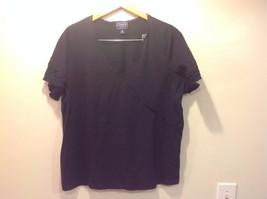 Navy Blue Chaps Classics V-Neck Open Women Shirt Size 2X Cotton image 3