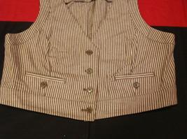 Pretty Larry Levine Ladies Brown Cream Colored Vest Size Large image 3