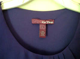 Pretty Purple Short Sleeved Ruffled Dress by Epic Threads Size Large image 4