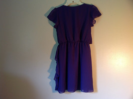 Pretty Purple Short Sleeved Ruffled Dress by Epic Threads Size Large image 5