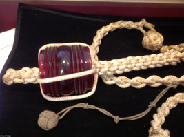 Nautical lines knots & monkey knots and red running glass light cover collection image 4