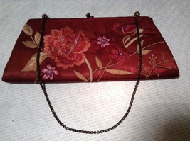 Pretty Red Floral Handbag Sequins and Beads By Accessorize image 2