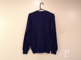 Navy Blue Gray with Classic Diamond Pattern IZOD Long Sleeve Sweater Size Medium image 2