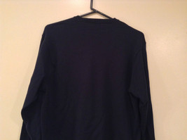 Navy Blue Gray with Classic Diamond Pattern IZOD Long Sleeve Sweater Size Medium image 6
