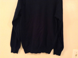 Navy Blue Gray with Classic Diamond Pattern IZOD Long Sleeve Sweater Size Medium image 7