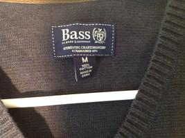 Navy Blue Bass Casual Sweater Vest V Neck 100 Percent Cotton Size Medium image 6