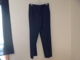 Navy Blue Pinstriped Pant Suit Rafaella Petites Jacket and Pants Size 4P image 10