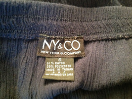 Navy Scrunched Style Maxi Skirt Cute Slit up Side of Front NY and Co Size S image 7