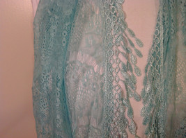 New Infinity Scarf with Lace Fringe Mint Color Polyester image 3