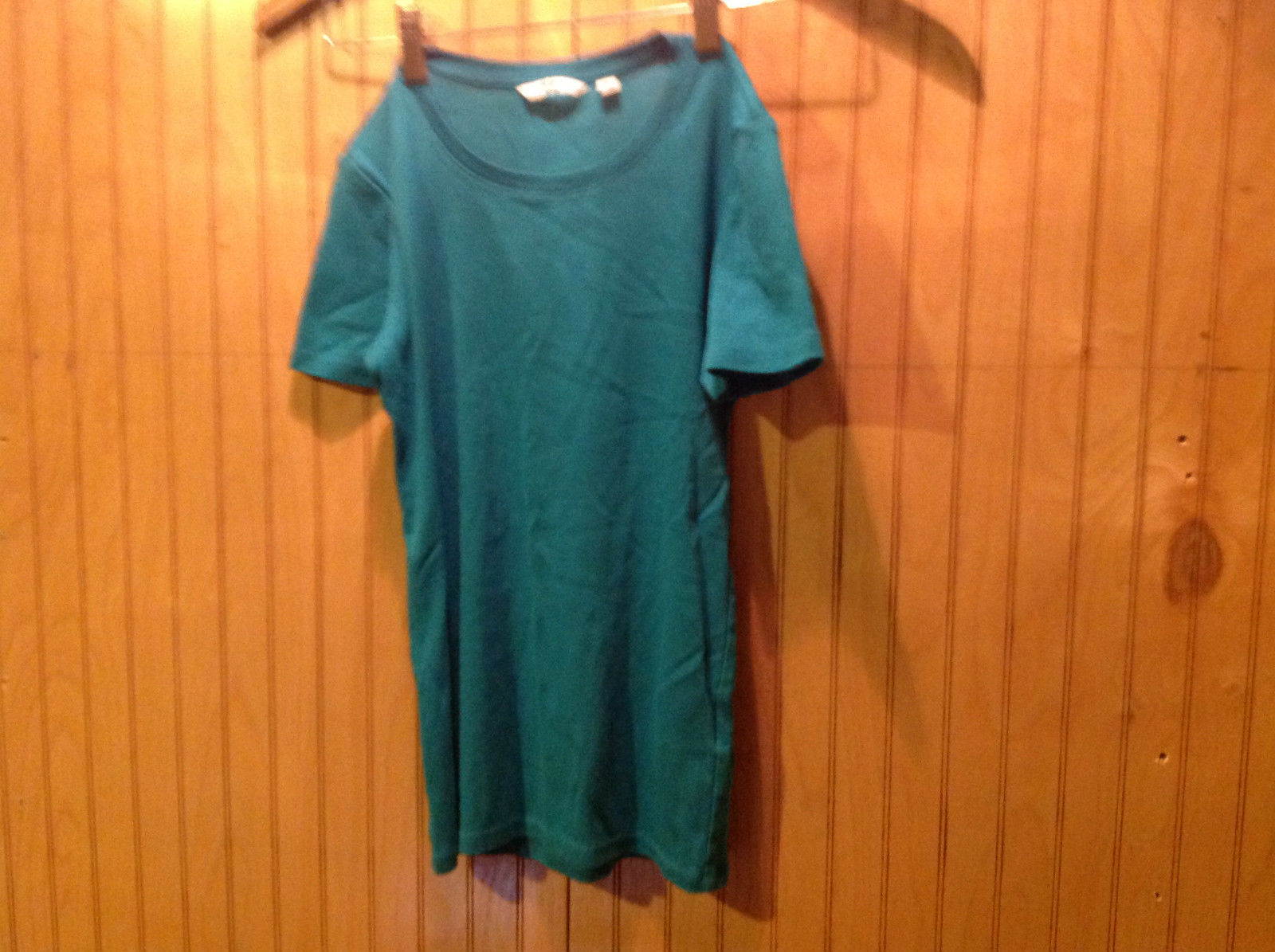 Short Sleeve Teal T Shirt Dress Uniqlo Size XS
