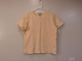 Short Sleeve Yellow Eddie Bauer 100 Percent Cotton Shirt Size Medium