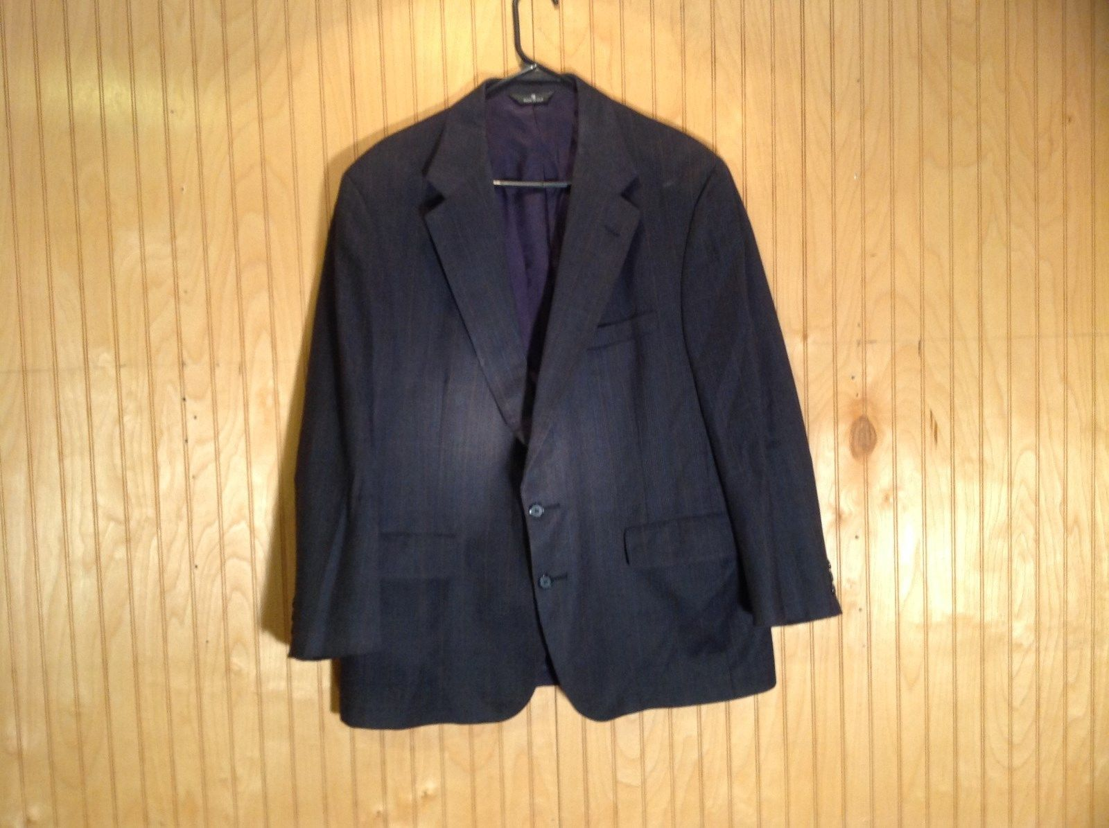 Signals Donald Brooks Black Sport Coat All Virgin Wool Made in USA No Size Tag