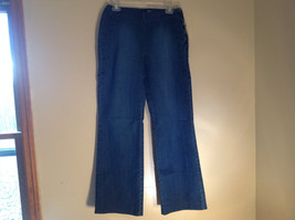 Side Closure Wide Leg Blue Jeans by Ninety Jeans Size 10