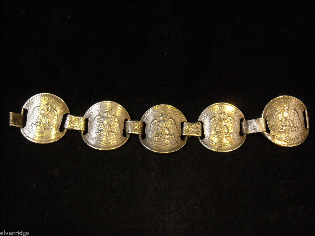 Silver Bracelet made from Mexican Pesos