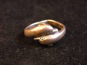 Silver Colored Dolphin Ring size 8.5