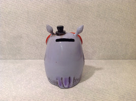 New Piggy Bank Owl with Big Glasses and Cylinder Hat, Blue Violet image 2