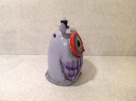 New Piggy Bank Owl with Big Glasses and Cylinder Hat, Blue Violet image 3