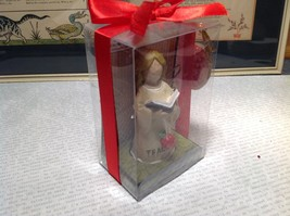 New Teacher Angel Resin with Book and Apple in Gift Box New with Tags Attached image 2