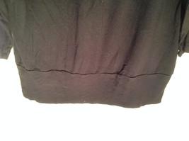 New York Company Long Sleeve Black Scooped Neckline Stretchy Size Medium image 6
