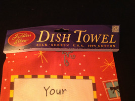 New Your Friendship is a Present I Open Everyday Kitchen Christmas Towel image 2