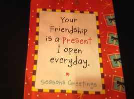 New Your Friendship is a Present I Open Everyday Kitchen Christmas Towel image 4