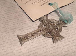 NWT Pewter hand made Celtic cross hanging wall ornament small Cynthia Webb image 5