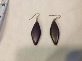 New w tags natural dark wood grained earrings Ukraine image 5