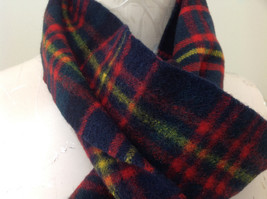 Nice Black Red Green Plaid Cashmere and Wool Scarf Simpson Piccadilly image 4