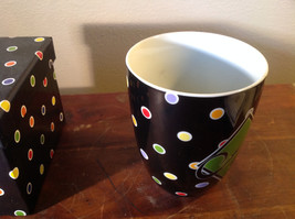 Nicole Brayden Ceramic Mug Large Letter choice Colorful Polka Dots New in Box image 3