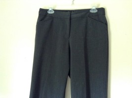 Nicole Miller New York Dark Gray Dress Pants Size 8 Zipper and Clasp Closure image 2
