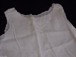Antique Baby Dress Gown Sheer Linen 1900s Vintage Edwardian image 3