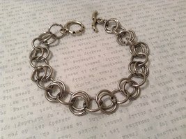Silver Tone Handmade Steam Punk Ring Bracelet