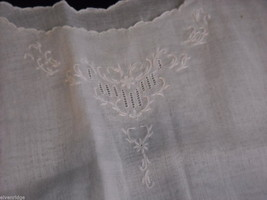 Antique Baby Dress Gown Sheer Linen 1900s Vintage Edwardian image 4