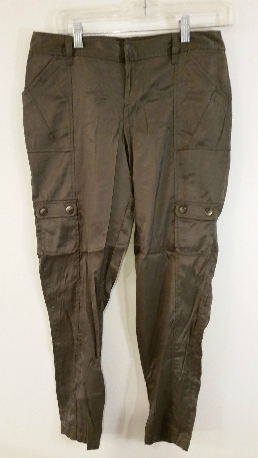 Simply Vera Vera Wong Size 6P Brown Cargo Type Pants Four Pants Pockets