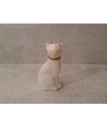 Sitting White Glass Cat Figurine EMPTY Cologne Jar Avon - $24.74
